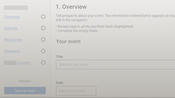Agile redesign of B2B events platform & workflows